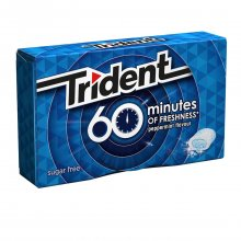 Trident 60 minutes of freshness τσίχλες peppermint 20gr