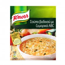 Knorr σούπα βοδινού με ζυμαρικά ABC 80gr