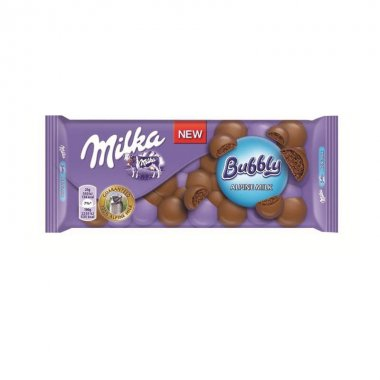 Milka σοκολάτα bubbly alpine milk 90gr