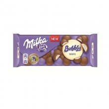 Milka σοκολάτα λευκή bubbly white 95gr