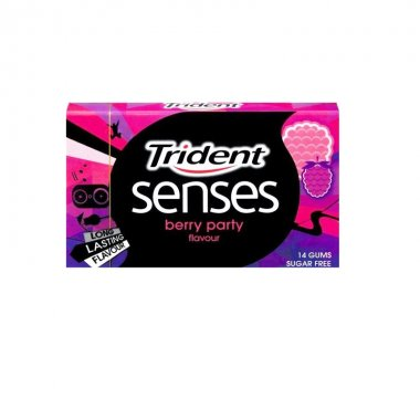 Trident senses τσίχλες βατόμουρο berry party gums 24,5gr