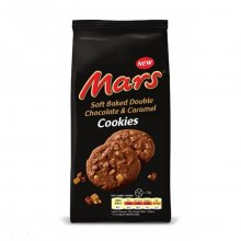 Mars μπισκότα Soft Baked double Chocolate & Caramel 162gr