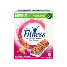 Nestle Fitness μπάρες δημητριακών Red berries κόκκινα φρούτα 6x23,5gr