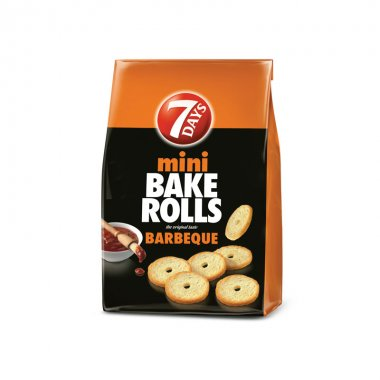 7Days mini Bake Rolls barbeque 160gr