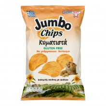 Jumbo chips κυματιστά πατατάκια με γεύση barbeque